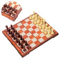 2 In 1 Magnetic Travel Chess Checkers Set Classic Folding Board Game Set  Portable Educational Toys