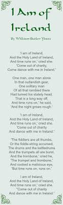 why st patrick s day is my favorite holiday patrick o brian st i am of poem by william butler yeats