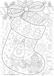 Small Picture Christmas Stocking Colouring Page