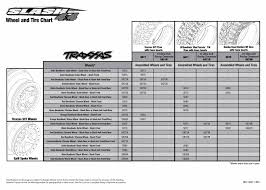 6808 Tire Wheel Chart Slash 4x4 With Tqi 2 4ghz Radio