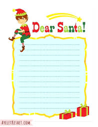 Free Letter From Santa Word Template Free Printable Letter To Santa Template Naomijorge Co