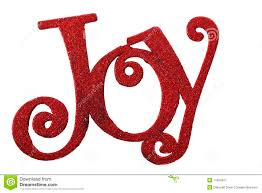Word In Red The Word Joy In Red Glitter Stock Image Image Of Christmas