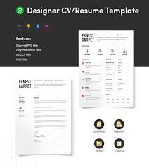Free Resume Template For Designer With Portfolio Get Psd Sketch