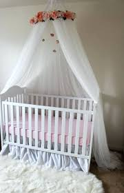 elegant shabby chic crib crown flower canopy tent fl white and pink or bed with hanging crystals roses cribs nursery bedding target