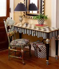 funky hall tables. Mackenzie-Childs. Funky FurniturePainted FurnitureFurniture IdeasCool PaintingsColorful InteriorsHall TablesNarrow Hall Tables