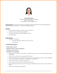 7 Example Of A Simple Resume For Student Penn Working Papers