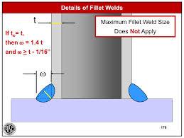 Max Size Fillet Weld In T Joint Welding Bonding