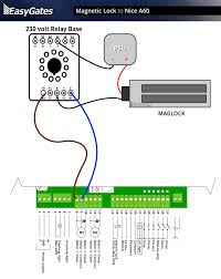 magnetic lock to nice a60 control panel maglock kit wiring diagram Maglock Wiring Diagram #14