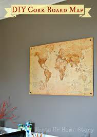 Image Bulletin Board Diy Cork Board Map Whats Ur Home Story Diy Cork Board Map Whats Ur Home Story