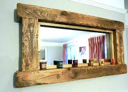 distressed mirror frame blue green distressed