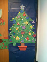Classroom Christmas Door Decorating Ideas  Christmas Lights Classroom Christmas Tree