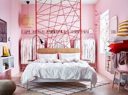 Verspieltes Schlafzimmer In Rot Rosa Ikea