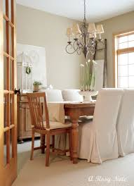 breathtaking white themed short dining room chair covers for small house design ideas with rustic wooden