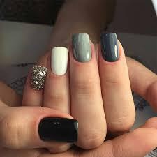 nail fashion nails white grey sparkle silver nail art girlie   My ...