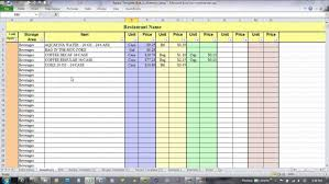 menu spreadsheet template food cost spreadsheet template melo in tandem co product amp pricing