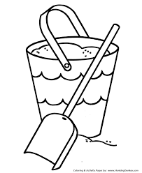 Small Picture Pre K Coloring Pages Free Printable Beach sand bucket