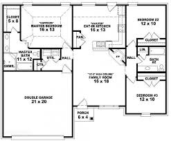 simple house floor plans one story elegant e story 3 bedroom 2 bath french traditional style