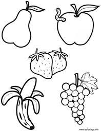 Coloriage Alimentation Les Fruits Dessin
