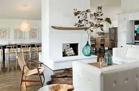 white brick fireplace wood mantle