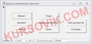 База данных Технический архив предприятия Курсовая работа на  Курсовая работа ms access 2003