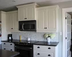 Kitchen Backsplash Ideas White Cabinets Black Countertops Home