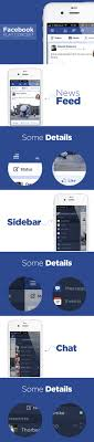 Facebook Interface Design Flat Mobile Ui Design With Remarkable User Experience