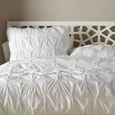 off white ruffle bedding