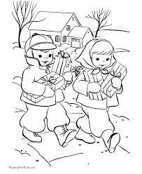 Small Picture Kids Christmas coloring pages Bringing gifts