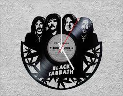 Black Sabbath Design Black Sabbath Lp Vinyl Clock