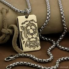 whole linsion high detail deep laser engraved brass lion king pendant mens biker rock punk style 9x021b stainless steel necklace 24 inches fashion