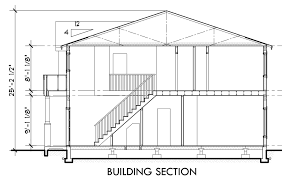 house side elevation view for d 532 duplex house plan d 532