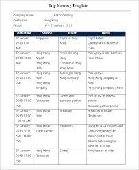 Travel Schedule Free Schedule Template Word Kazakia Info