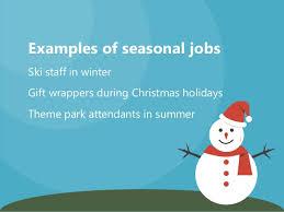 Seasonal Winter Jobs Examples Of Seasonal Jobs Gift