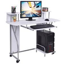 home office workstation. Image Is Loading Rolling-Computer-Desk-PC-Laptop-Desk-Pull-Out- Home Office Workstation