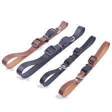 details about genuine leather dog collar quick release puppy pet dog cat supplies black brown