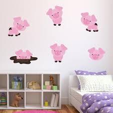 Friendly <b>Pig Wall Stickers</b>, <b>Pig Wall Decals</b>, Farm Animal Wall Art ...