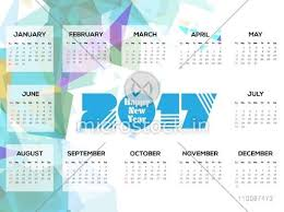 Yearly Calendar Planner Template Abstract Design Decorated Yearly Calendar Planner Template Of 2017