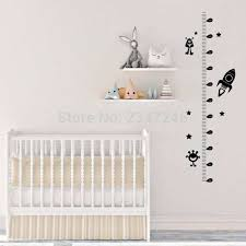 Monster Height Chart Us 4 34 13 Off Growth Chart Wall Decal Rocket Little Monster Height Chart Sticker Nursery Kids Room Decor In Wall Stickers From Home Garden On
