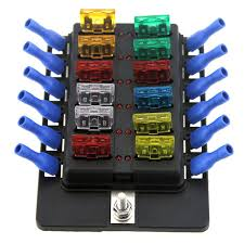 newest 12 way led boat car blade fuse box truck rv fuse block holder newest 12 way led boat car blade fuse box truck rv fuse block holder spade