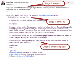 How To Write A Follow Up Email New Feature Automatic Followup Emails Until You Get A Reply 14