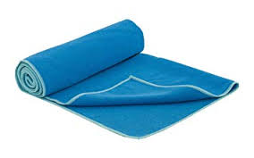 prosource faveo hot yoga mat towel blue aqua