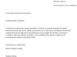 Formato De Cartas Personales Ejemplo De Carta De Solicitud De Traslado Pedir Traslado