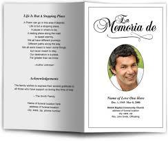 012 Free Editable Funeral Program Template Obituary Format