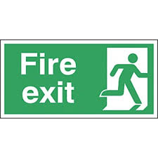 Fire Exit Safety Signs 150 X 300mm S A