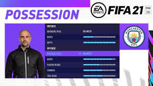 FIFA 21 PEP GUARDIOLA'S MANCHESTER CITY CUSTOM TACTICS | TIKI TAKA &  POSSESSION 4-3-3 - YouTube