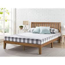 Image Solid Wood Zinus Alexia 12 Inch Wood Platform Bed With Headboard No Box Spring Needed Wood Amazoncom King Bed Frame Wood Amazoncom