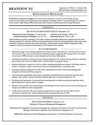 Chic Restaurant Manager Resume Objective Statement On Example