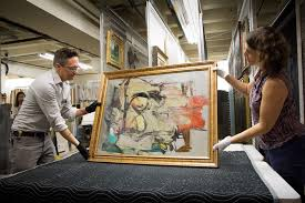 willem de kooning woman ochre stolen from the university of arizona museum of art in 1985 has been recovered here nathan saxton the museum s