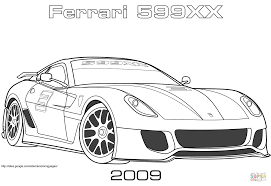 Small Picture 2009 Ferrari 599XX coloring page Free Printable Coloring Pages