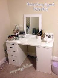 diy makeup vanity table. My Brand New Vanity Table Set Up Complete With Items From Ikea \u0026 Home Goods Diy Makeup